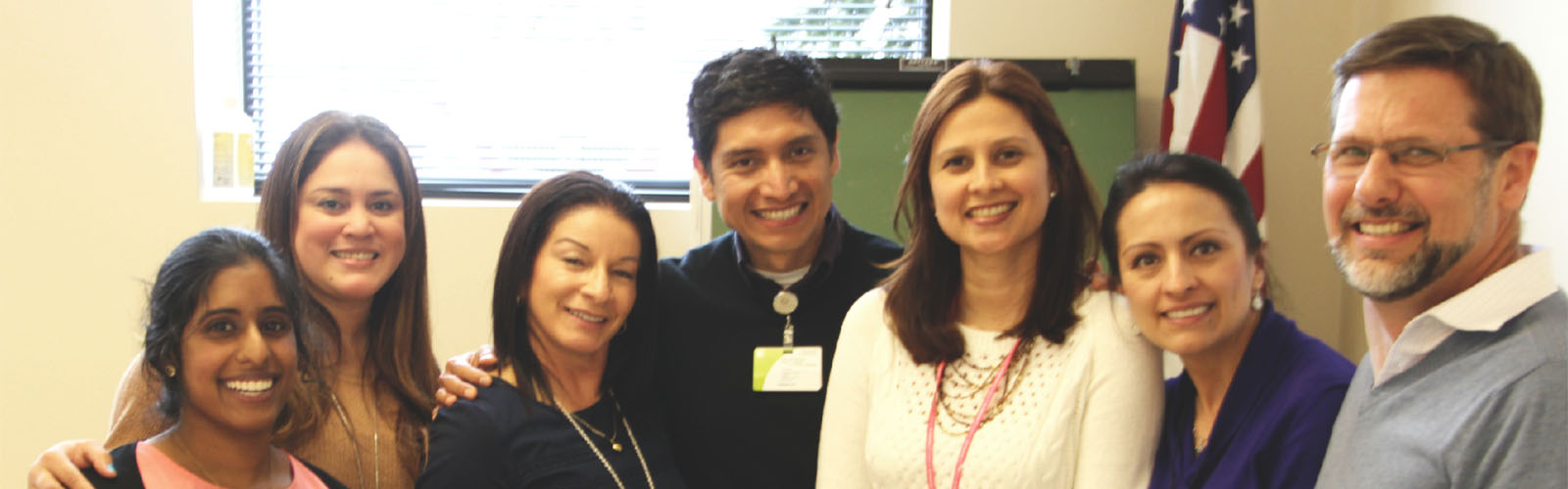 Rick Strickland with participants in the Latino Outreach Project